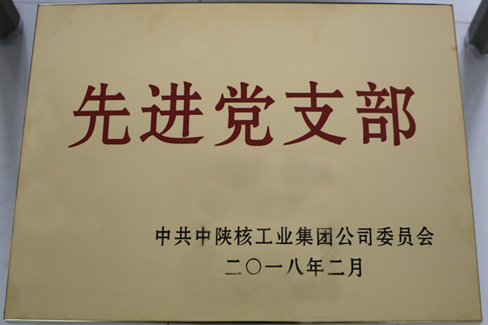 """公司党支部荣获集团公司""""先进党支部""""称号"""
